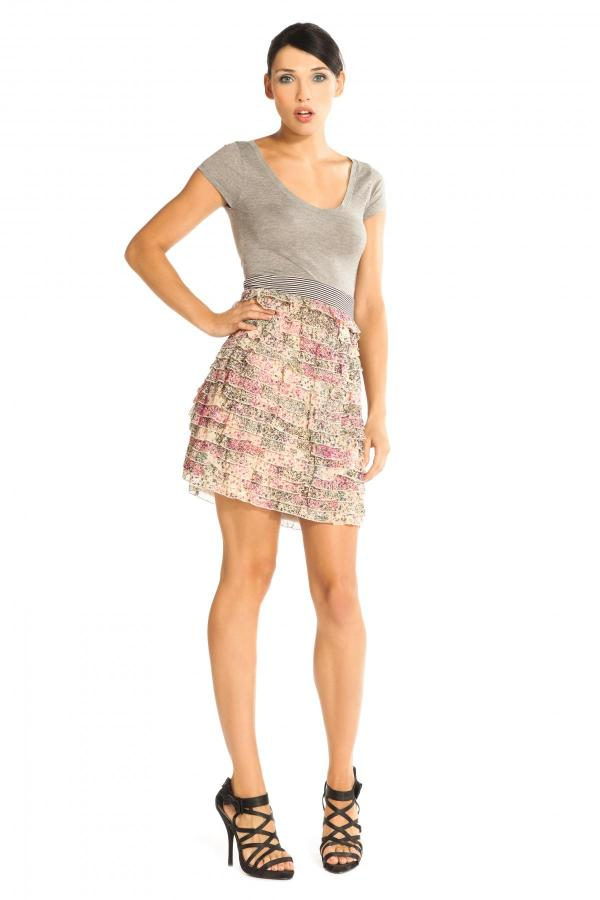 Image 1 - Dress with top part in Grey. Dress Peon couleur pink Derhy