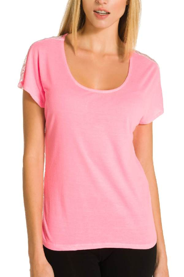 Image 1 - Tee-shirt dos brodé transparent - Tee-shirt Cachucha couleur  Derhy