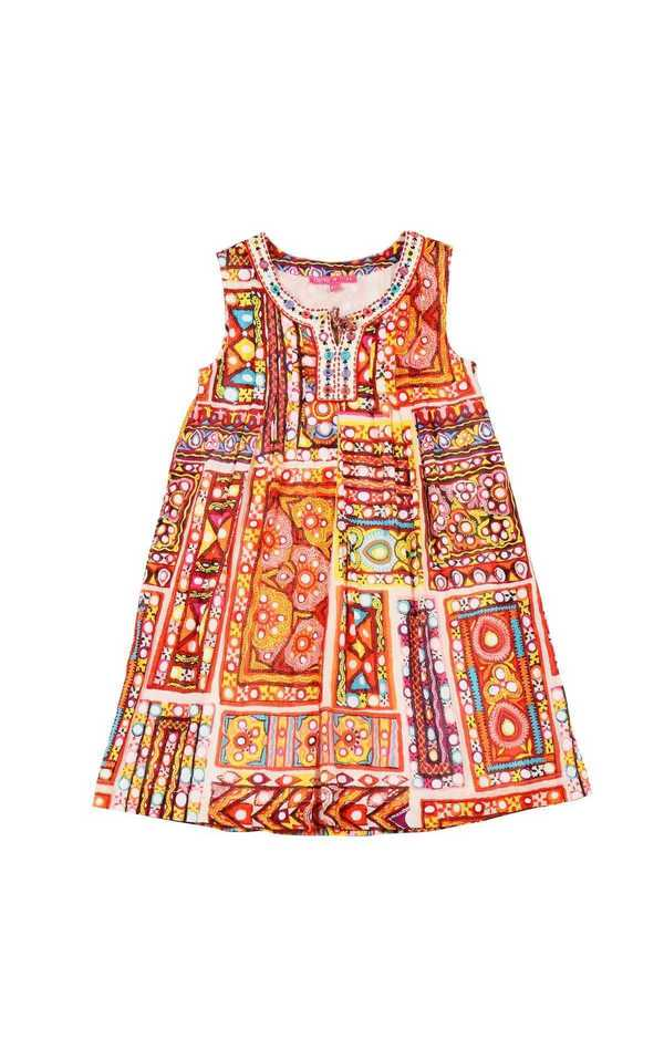 Robe derhy kids été fille indien jolie orange belle