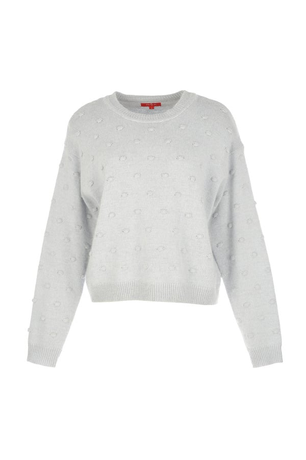 Pull maille unie en point fantaisie