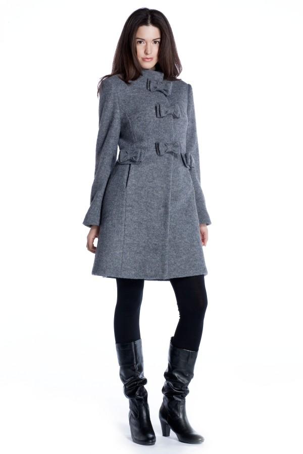 Image 1 - Manteau en laine bouilli avec des. parka Tac couleur  Derhy