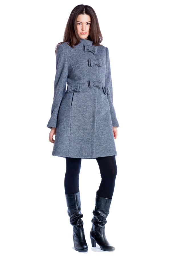 Image 1 - Manteau en laine bouilli avec des. parka Tac couleur gris Derhy