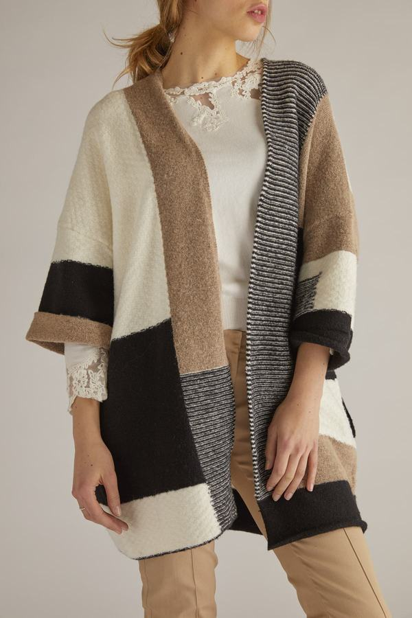 Cardigan en maille manches 3/4- Egypte