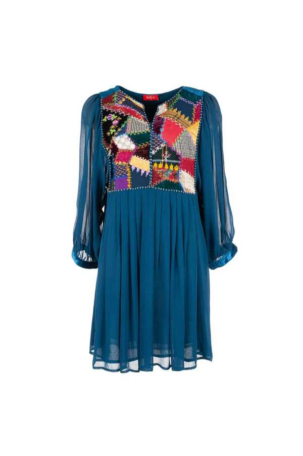 Robe tunique patchwork  - Mansfield