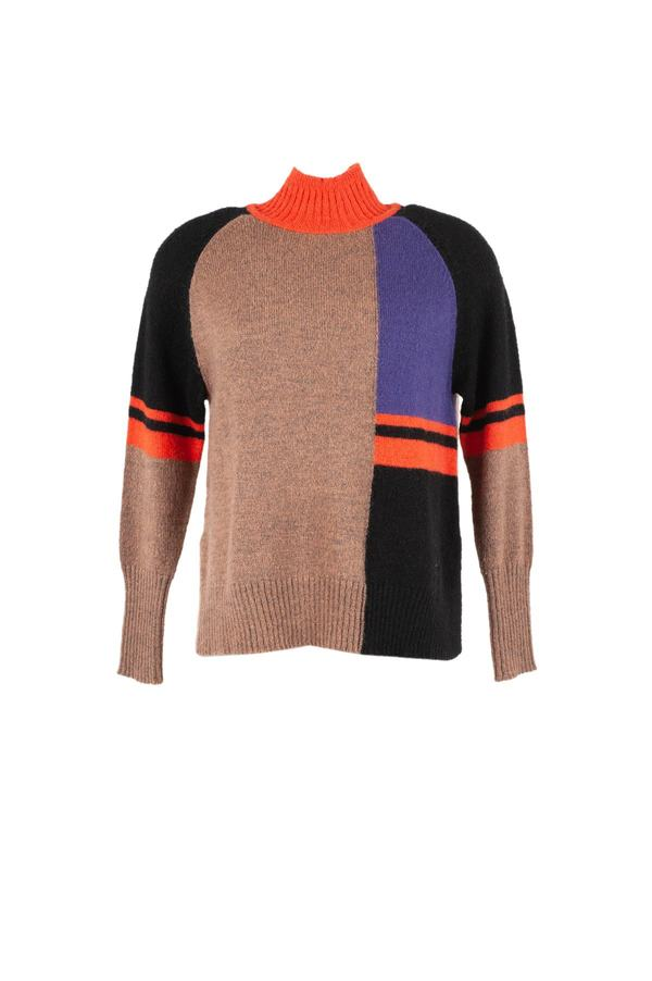 Pull col haut color block - Effigie