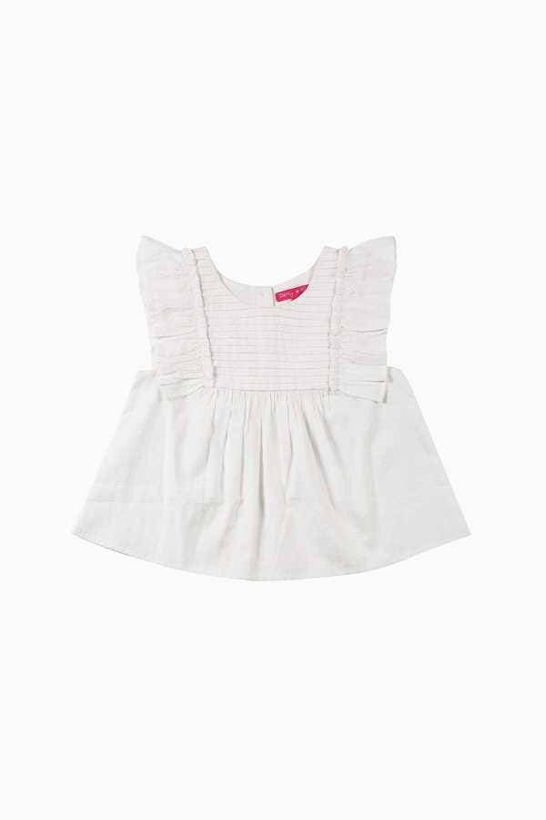 Top en coton avec volants