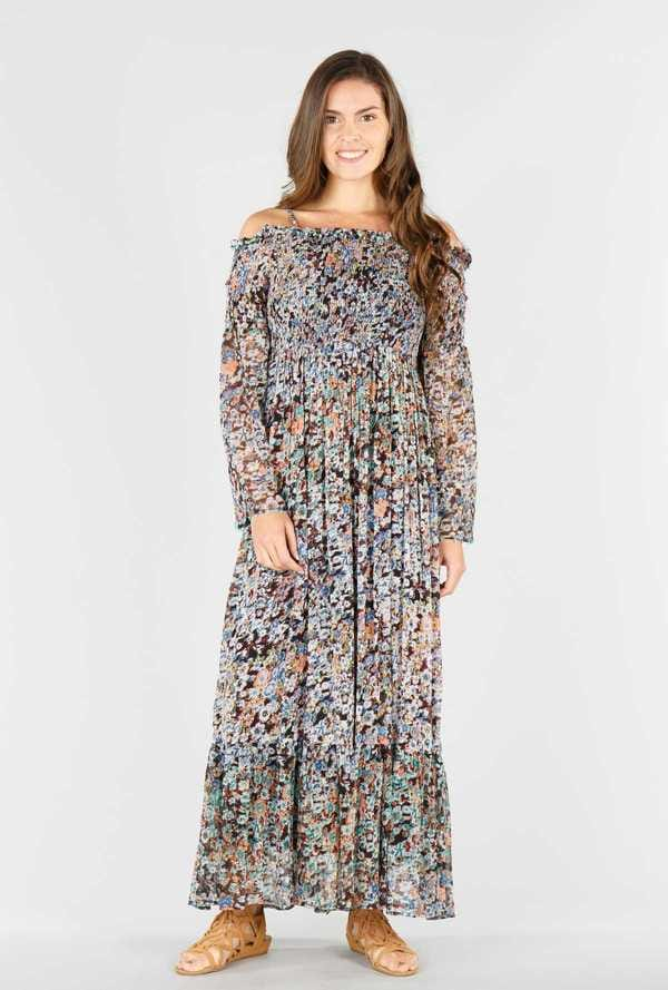 Alveole - Robe longue imprimé floral all-over