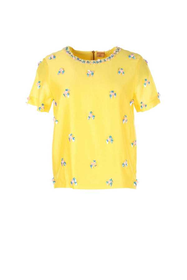 Top coton fleurs brodées, Miss Terry, Collection Manish Arora