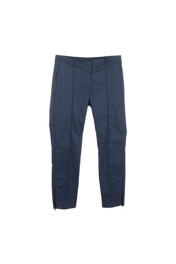 Pantalon uni en coton - Cafiction