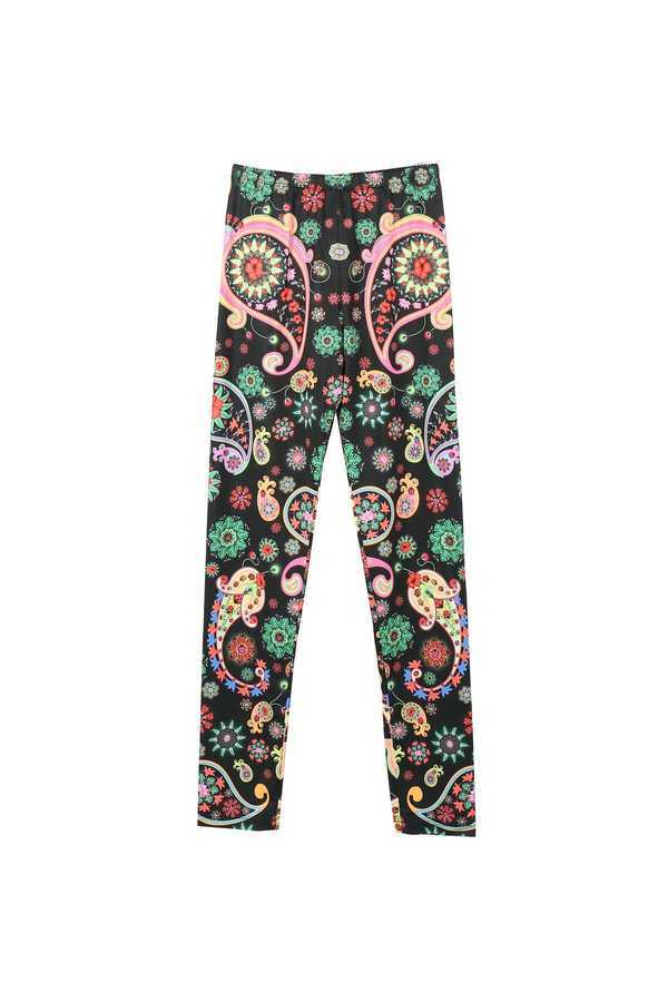 Image 1 - Leggings imprimé de la collection Manish Arora  couleur noir Derhy