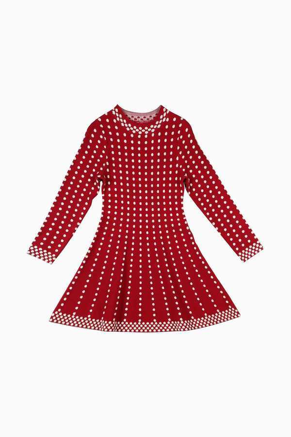 Image 1 - Robe Enfant Fille DERHY KIDS maille poiscouleur rouge Derhy