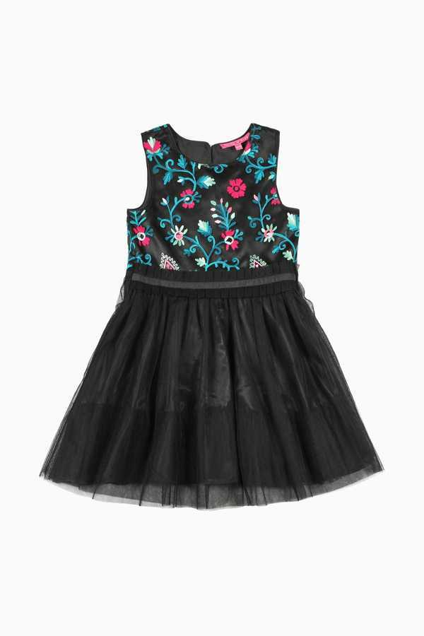 Robe broderies indiennes enfant fille tulle DERHY KIDS