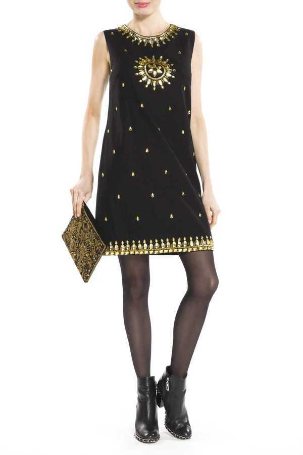 Robe droite coton brodée diamants - Manish Arora loves Derhy